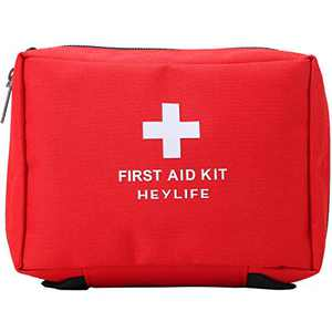 HEYLIFE First Aid Bag Small Medical Pouch Empty Kit Responder Storage Bag for Outdoor Travelling Camping Sport Medical Emergency Survival (red)