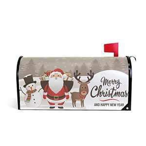 Home Garden Christmas Deer Pattern Magnetic Mailbox Cover Standard
