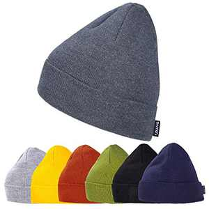 ZOWYA Daily Knit Cuff Beanie for Men & Women Slouchy Skull Cap Classic Winter Ski Hat Snug Beanie Hats Acrylic Solid Color, 1 Pack (Heather Charcoal)