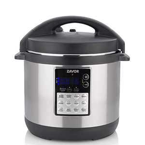 Zavor LUX Edge, 4 Quart Programmable Electric Multi-Cooker: Pressure Cooker, Slow Cooker, Rice Cooker, Yogurt Maker, Steamer and more - Stainless Steel (ZSELE01)