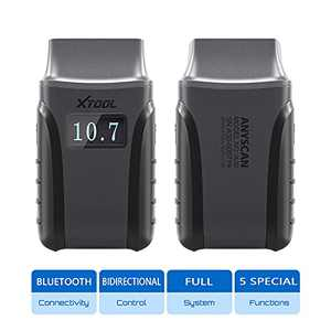 XTOOL Anyscan A30 Bluetooth OBD2 Scanner for iOS & Android, Bidirectional Scan Tool with Full Systems Diagnosis, Oil Reset, EPB, SAS, DPF, Throttle Reset & Flashlight Mode