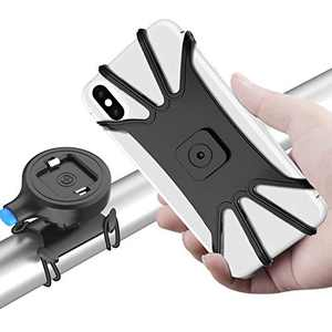 SPORTLINK Bike Phone Mount, One Key Release Detachable Universal Bicycle Handlebars Phone Holder for iPhone 12/SE 2020/11/11 Pro/11 Pro Max/Xs Max/XS/XR/X/8/7/6 Samsung Galaxy Note