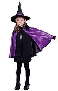 Halloween Cape Witches Cloak, Coxeer Cosplay Costume Comics Cartoon Dress Up Christmas Halloween Costume for Kids