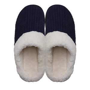 Women's Cozy Slip On Memory Foam Slippers Fuzzy Plush Lining House Shoes Blue US 5-6