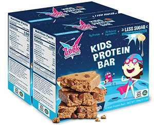 ZEEK BAR - Kids Protein Snack Bars - Less Sugar, High Protein Kids Snack Bars - Healthy, Gluten Free Protein Snack Bar for Kids and Teens - Cosmic Cookie Dough, 20 Count
