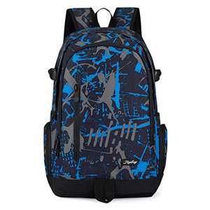 School Backpack, Ricky-H Lifestyle Travel Bag for Men &, Blue, Size One_Size