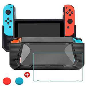 SUNJOYCO Case for Nintendo Switch, Heavy Duty Rubberized Snap-on Hard Cover Slim Protective Shock-Absorption and Scratch-Resistant Case Shell with Screen Protector for Nintendo Switch