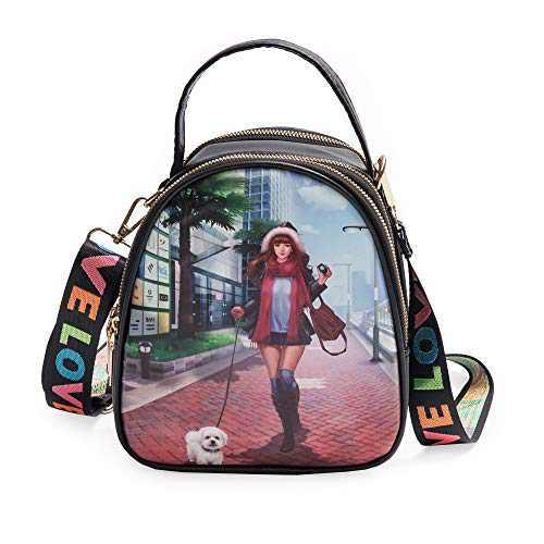 Fashion Mini Backpack Purse - Cute Crossbody Bag - Hand Shoulder Backpack Straps (black 2)