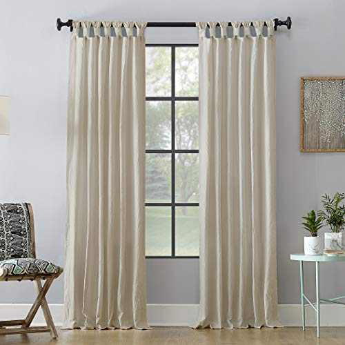 """Archaeo Washed 100% Cotton Twist Tab Curtain, 52"""" x 95"""" Panel, Oatmeal"""