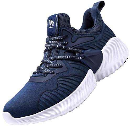 CAMEL CROWN Mens Running Shoes Sneaker Slip on Tennins Walking Workout Atheletic Shoes Indigo Blue 12.5