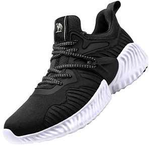 CAMEL CROWN Womens Running Shoes Sneaker Slip on Tennins Walking Workout Atheletic Shoes Black 7.5