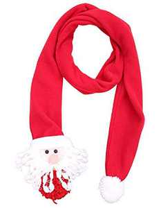 The B-Style TB Winter Warm Scarf Adults Holiday Gift Large Scarf Warm Neck Wrap (Red Santa Claus)