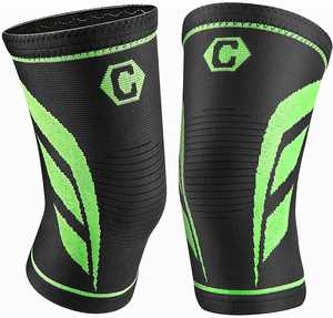 CAMBIVO Knee Support Brace (Pair) for Men & Women, Compression Sleeves for Running, Gym, Weight Lifting, Hiking, Walking, Sports, Volleyball