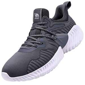 CAMEL CROWN Womens Running Shoes Sneaker Slip on Tennins Walking Workout Atheletic Shoes Grey 9.5