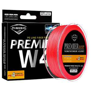 Sunlure Braided Fishing Line - 4 Strands Braid Lines Super Strong High Sensitivity Zero Stretch PE Fish Line 547Yard/500M 6 Lb Red