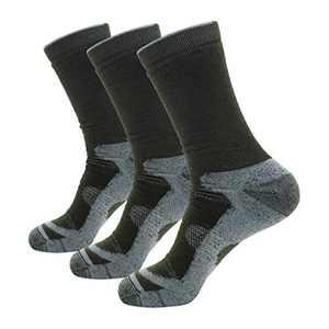 Wantdo Men's Classic Heavyweight Boot Socks for Climbing (3 Pairs) Army Green