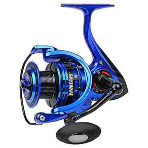 Sunlure Fishing Reels Spinning - Large Smooth Spinning Reels Fishing Wheels Fishing Line Vessel 9+1bb All Metal 5.2:1 Cup 6000
