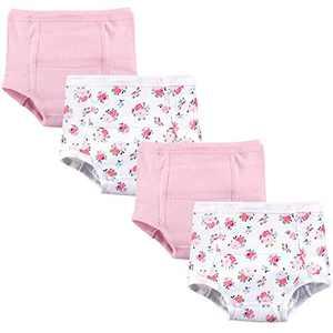 Luvable Friends Unisex Baby Cotton Training Pants, Floral, 2 Toddler