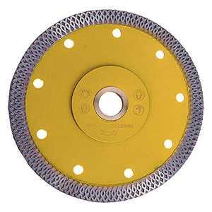 "Sitong Super Thin Diamond Saw Blade for Cutting Porcelain Tiles, Ceramic Tile, Granite, Marble, Stone, Sandstone Quartz (Yellow Blade-5"")"
