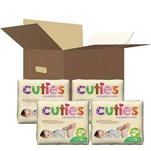 Cuties Complete Care Baby Diapers, Size 2, 160 Count