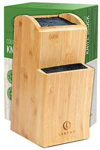 Universal Knife Block Without Knives - Kitchen Knife Holder for Kitchen Counter - Extra Large Bamboo Knife Block Holder