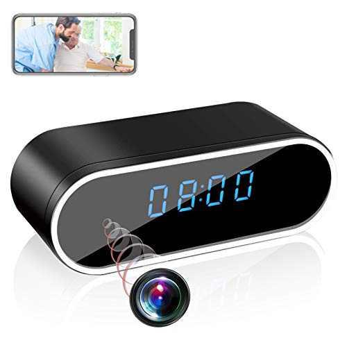 DareTang HD 1080P WiFi Hidden Spy Camera Alarm Clock Night Vision/Motion Detection/Loop Recording Home Surveillance Cameras
