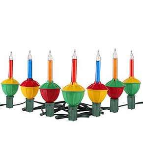 Tupkee Christmas Bubble Lights – Set of 7 Multi-Color Lights - Bubble Lights for Christmas Tree Holiday Decor