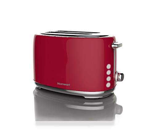Homeart Artisan Toaster, 2 Slice, Red