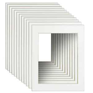 11x14 Picture Frame Mats for 8x10 Pictures with White Core Bevel Cut Pack of 12