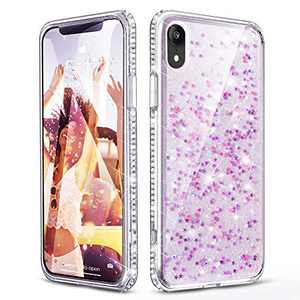 OCYCLONE iPhone Xs Max Case for Girls Women, Cute Pretty Glitter Bling Diamond Rhinestone Bumper Slim Fit Girly Star Protective Phone Case for iPhone Xs Max 6.5 Inch - Clear Star