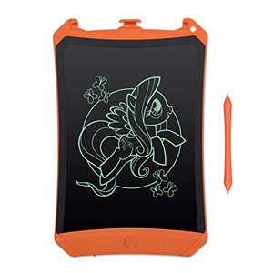 "LCD Drawing & Writing Tablet Ewriter Pad Dry Erase White Board Graffiti Toy for Kids Toddlers Children & Adult, Daily to Do List Notepad for Home Office & Car LCD918-8.5"" Mono Orange with Stylus"