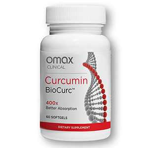 Omax Turmeric Curcumin Supplement Softgel Bioavailable, BioCurc for Joint Pain Relief, Immune Support, Inflammation Support, Antioxidant | 60 Softgels