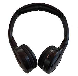 TOPXCEGUU A10 IR Wireless Headphones for Car DVD Player Headrest Video,On-Ear Infrared Headphones Headset Universal (Black)