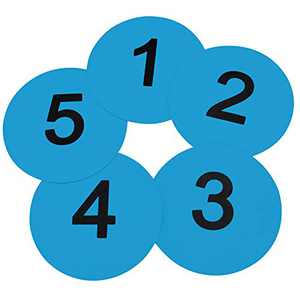 Eco Walker 8inch Numbered Floor Spot Markers Set of 5 (Blue 1-5)