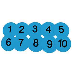 Eco Walker 8inch Numbered Floor Spot Markers Set of 5 (Blue 1-10)
