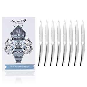 Laguiole By FlyingColors Steak Knife Set Serrated Stainless Steel 8-Piece, Premium Dinner Knife Set with Gift Box