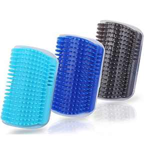 3.0 SOFTER Cat Self Groomer with Catnip, Dog Cat Corner Groomer,Wall Corner Massage Comb, Cat Toy Grooming Brush, Perfect Scratcher for Long & Short Fur Cats/Dogs/Horses