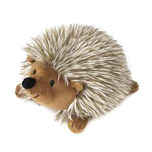 Pawaboo Plush Dog Toy, Non-Toxic Super Soft Faux-Fur Hedgehog Dog Toy Squeak Aninal Toy Stuffed Biting Training Playing Toys for Dog Puppy, Brown
