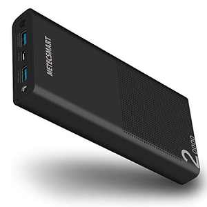 Fast Power Bank Portable Charger, Metecsmart Quick Charge 3.0 5v 20000mAh 20000 USB External Backup Travel Blackweb Mobile Rechargeable Battery Pack for Cell Phone iPhone 11 Pro Max Samsung Android