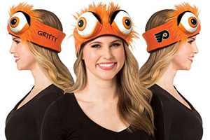 NHL's Philadelphia Flyers Gritty Mascot Headband Hockey, Fits Tween to Adults Orange