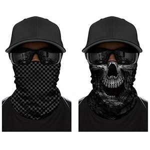 WharFlag Face Bandana Scarf - Sports Headband Bandanas Skull Face Multifunctional Motorcycling Headwear