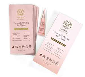 Advista BioTech Eye Treatment Gel Masks, Anti Wrinkle Eye Gel Under Eye Patches, Reduce Dark Circles, Eye Bags and Puffiness, Magic Healing Overnight Gel Pads (10 Packages with Advanced Peptide Serum)