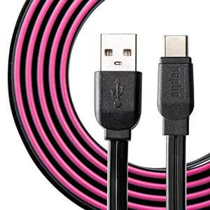 USB Type C to USB A Paplio SnapIT Lite Patented Interlocking Cable [2-Pack, 3.3ft], Fast Charging; Compatible with Samsung Galaxy S20+ S10 Note 10, LG V50 V40, Google Pixel, Switch, MacBook (Purple)