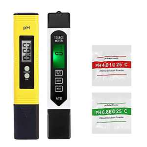 3-in-1 TDS+EC+Temp Meter & Digital PH Meter, Water Quality Test Meter Kit, 0-9999us/cm Electrical Conductivity 0.01PH Resolution for Household Drinking Water, Hydroponics, Aquariums
