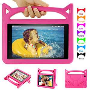 Fire 10 Tablet Case, Fire HD 10 Case-Auorld Light Weight Kids Proof Case with Stand for All New Kindle Fire HD 10 Tablet(9th/5th/7th Generation)-Pink