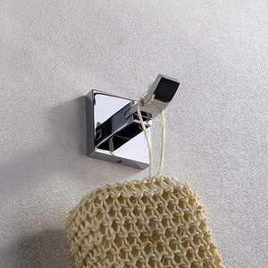YALi.M Bathroom Accessory Set Brass Modern 1piece in one Box -Robe Hook//Wall Mounted (Chrome)