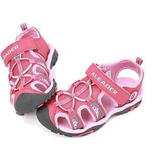 ALEADER Kids Youth Sport Water Hiking Sandals | Summer Outdoor Walking Sneakers(Toddler/Little Kid/Big Kid) Pink 7 M US Toddler
