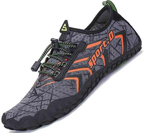 Mens Women Water Sport Shoes Barefoot Quick-Dry Aqua Socks for Beach Swim Surf Yoga Exercise, 8.5 M US Women / 7 M US Men