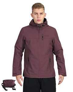 Outdoor Ventures Men's Packable Rain Jacket Waterproof Windbreaker Lightweight Raincoat with Hood
