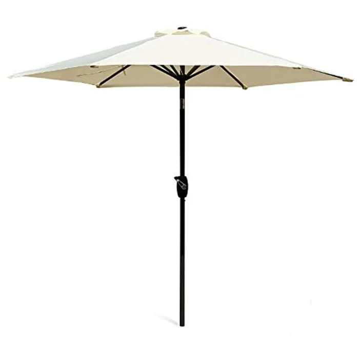 Scelto 2.7M Garden Parasol with Crank and Tilt, Sun Shade for Outdoor, Garden and Patio - Ivory